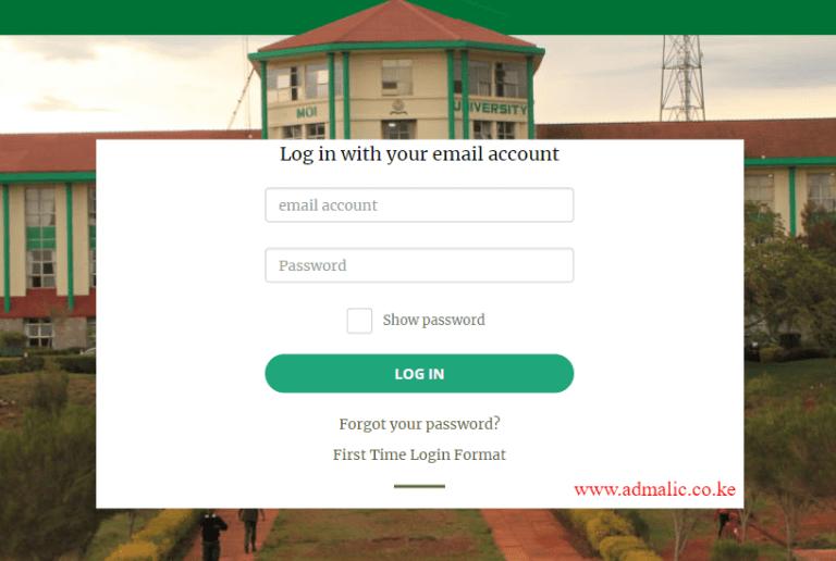 Moi University Student Portal for course registration