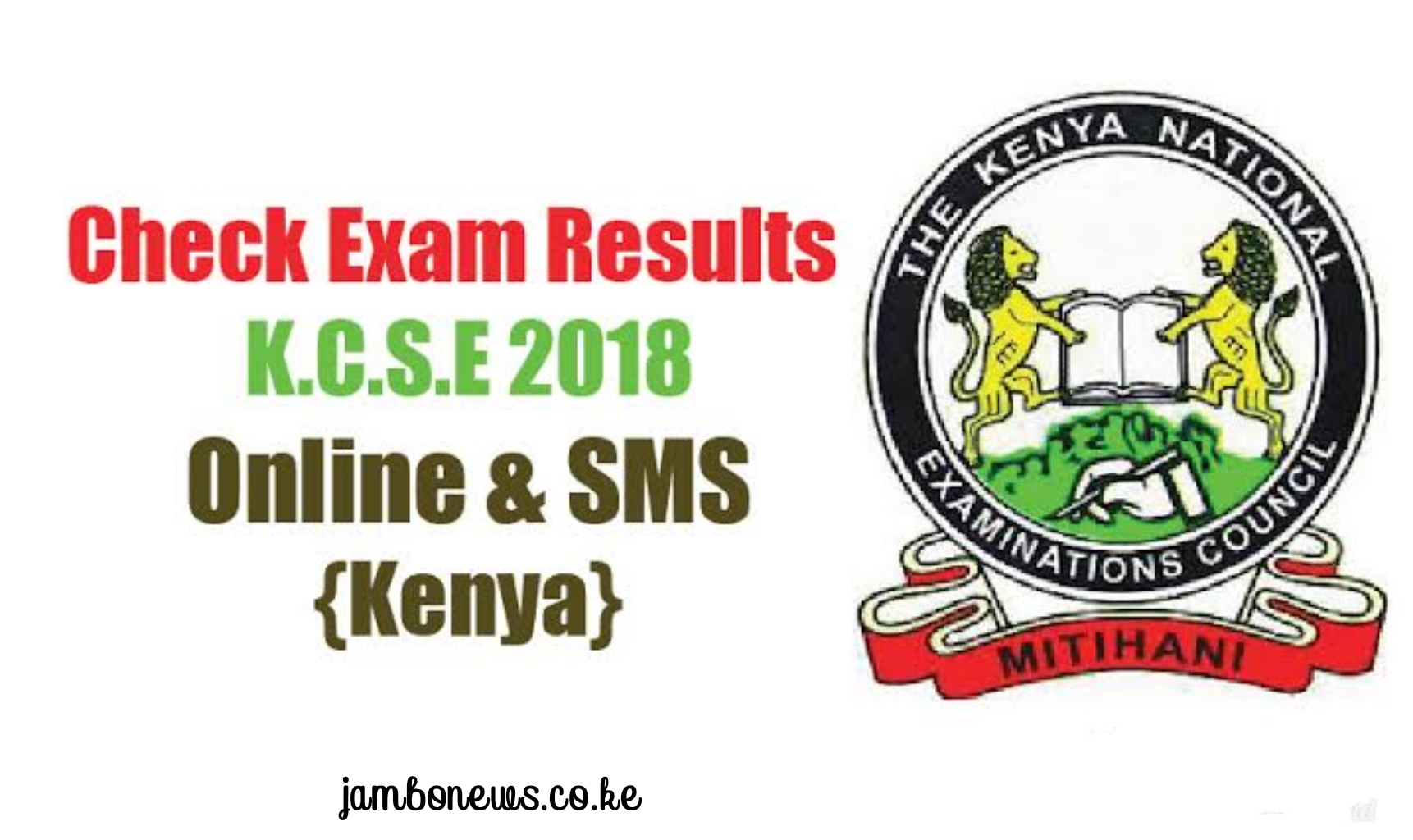 How to check/receive KCSE 2018 results via KNEC SMS Code