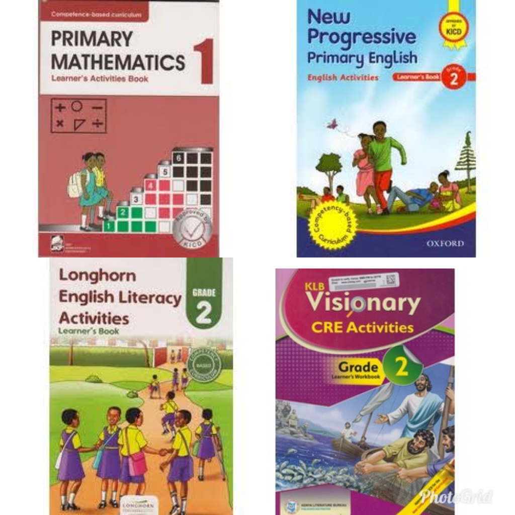 List of KICD approved textbooks for Grade 1, Grade 2 and