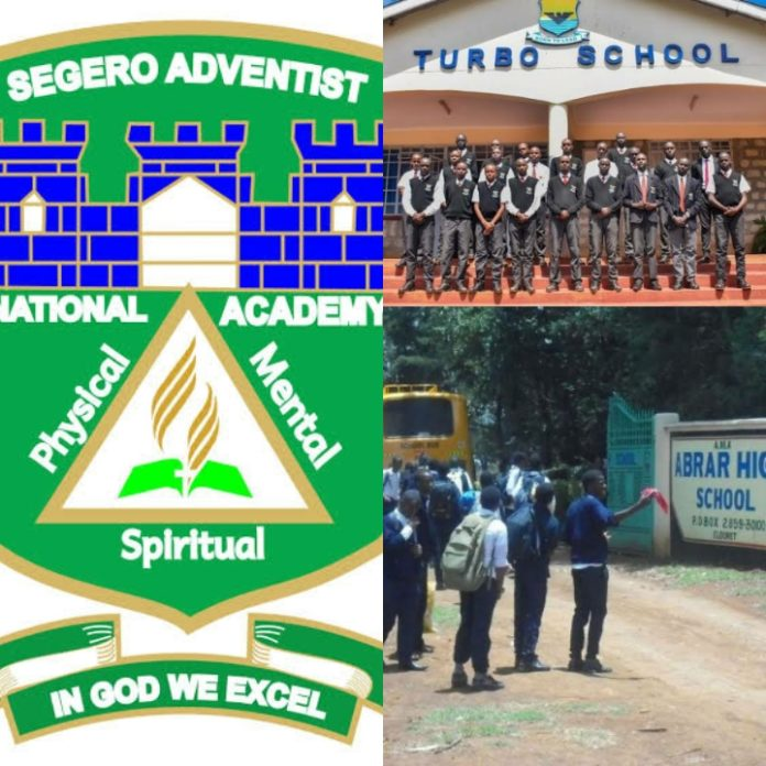 best private Scondary schools in Uasin Gishu County