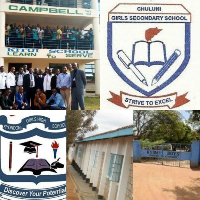 top ten best secondary schools Kitui county