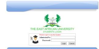 TEAU Student Portal login (teau.ac.ke)