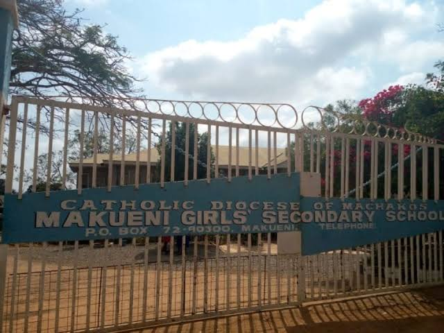 Gate of Makueni Girls - one of the extra county schools in Makueni County