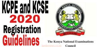 Registration Of Candidates For The 2020 KCPE and KCSE; KNEC Guidelines and Deadline