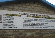 Njabini Boys High School an Extra county schools in Nyandarua county