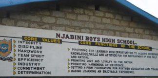 Njabini Boys High School an Extra county schools in Nyandarua county