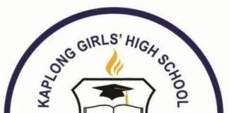 Kaplong Girls National School KCSE 2019 Results and distribution of grades