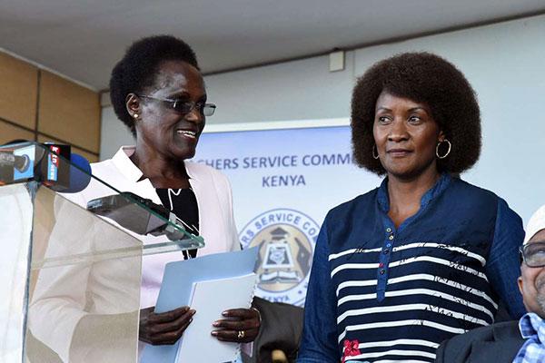 Tsc Chairperson Dr. Nzomo and TSC CEO Dr. Nancy Macharia