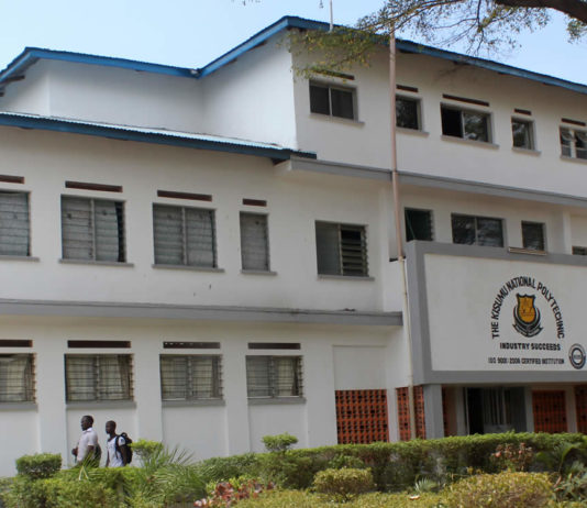 The Kisumu National Polytechnic Fee structure 2020