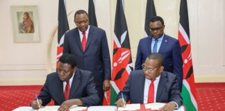 Nairobi Governor handing over the county government to the National Government on Tuesday 25 2020 at status Nairobi