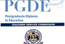 Post Graduate Diploma in Education (PGDE) and TSC Requirements