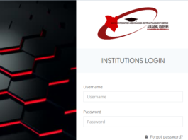 KUCCPS Institution portal for 2020 courses application institutions.kuccps.net