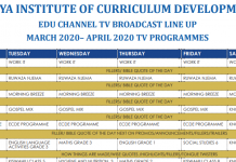 KICD EDU Channel TV Timetable for Pre-Primary, Primary and Secondary Schools